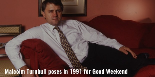 malcolm turnbull poses in 1991 for good weekend