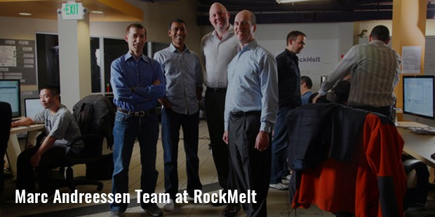 marc andreessen team at rockmelt