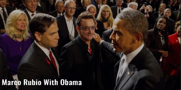 marco rubio with obama