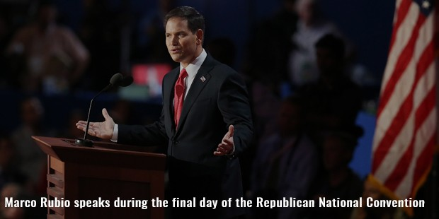 marco rubio speaks during the final day of the republican national convention