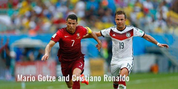 mario gotze and cristiano ronaldo