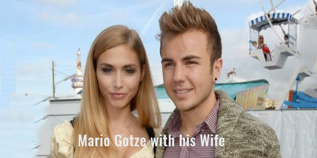 mario gotze with his wife