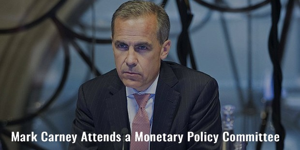mark carney attends a monetary policy committee