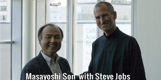 masayoshi son  with steve jobs