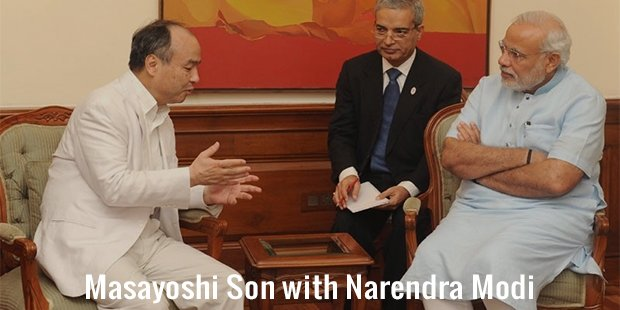 masayoshi son with narendra modi