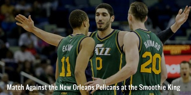 match against the new orleans pelicans at the smoothie king