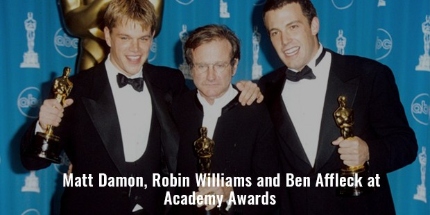 matt damon, robin williams and ben affleck win academy awards for good will hunting