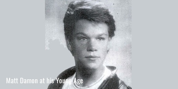 matt damon at his young age