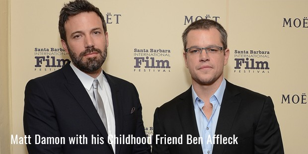 matt damon with his childhood friend ben affleck