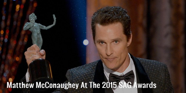 matthew mcconaughey at the 2015 sag awards