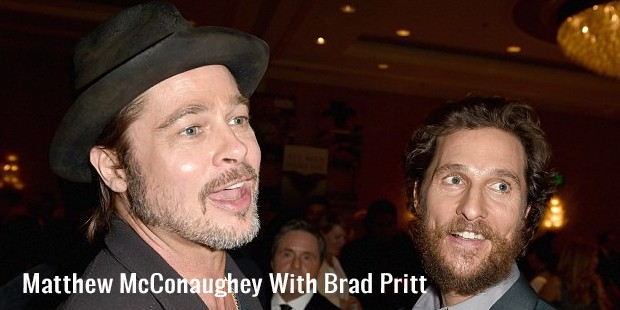matthew mcconaughey with brad pritt