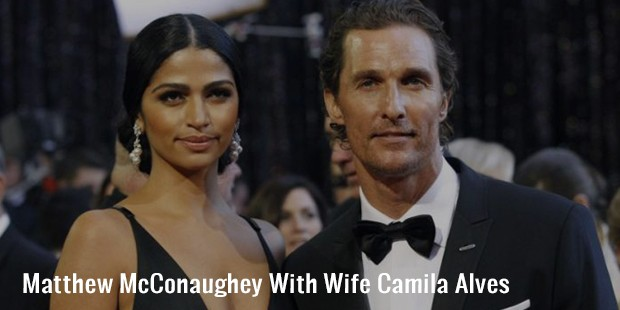 matthew mcconaughey with wife camila alves