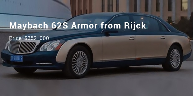 maybach 62s armor from rijck