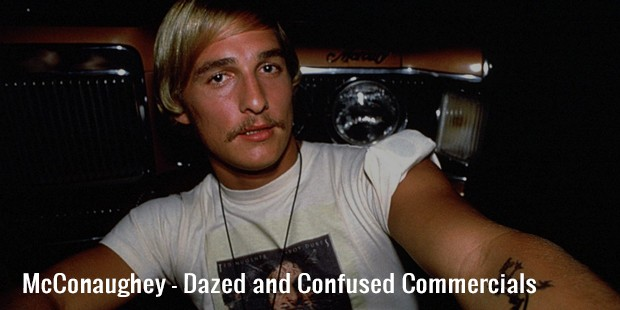 mcconaughey   dazed and confused commercials