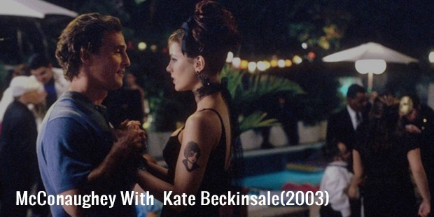 mcconaughey with  kate beckinsale 2003
