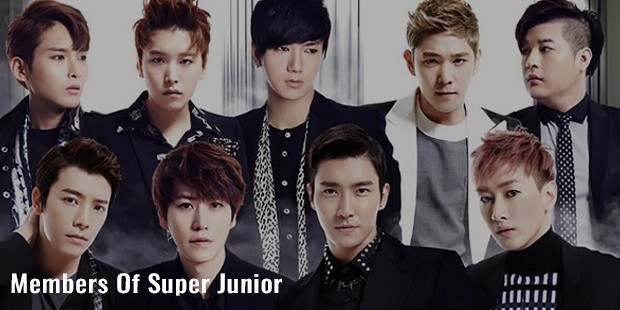 members of super junior