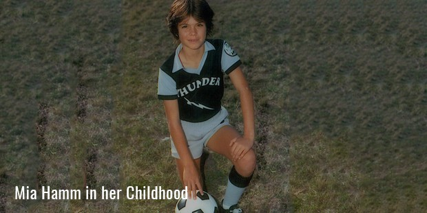mia hamm in her childhood