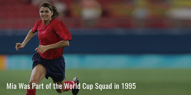 mia was part of the world cup squad in 1995