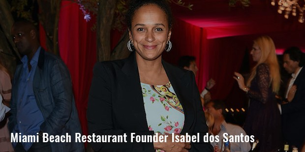 miami beach restaurant founder isabel dos santos