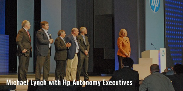 michael lynch with hp autonomy executives