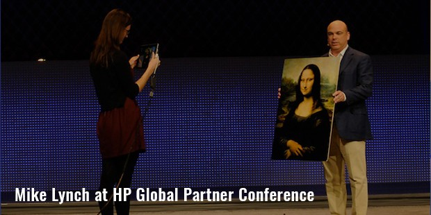 mike lynch at hp global partner conference