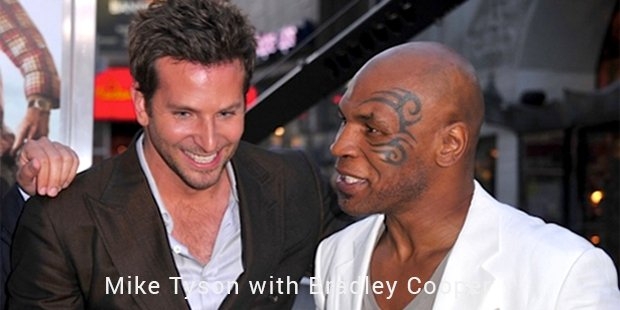 mike tyson with bradley cooper