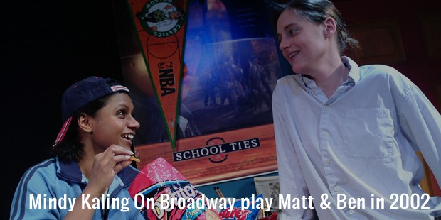 mindy kaling on broadway play matt   ben in 2002