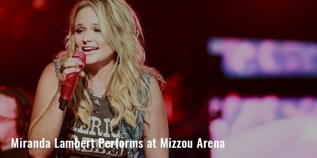 miranda lambert performs at mizzou arena