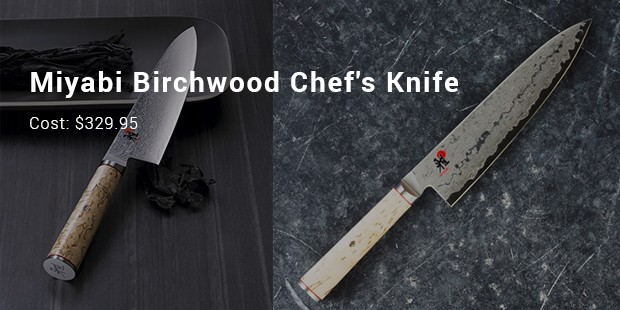 most expensive kitchen knives miyabi birchwood chef s knife 20897