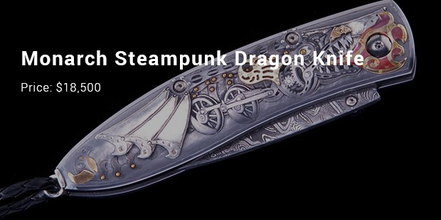 monarch steampunk dragon knife
