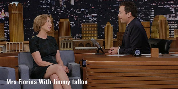 mrs fiorina with jimmy fallon