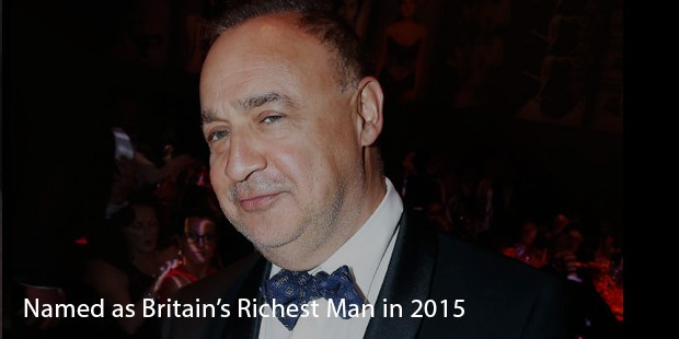 Named as Britain's Richest Man in 2015