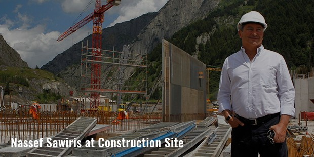 nassef sawiris at construction site