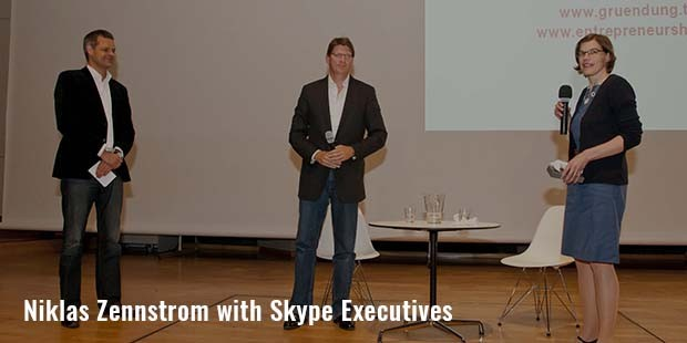 niklas zennstrom with skype executives
