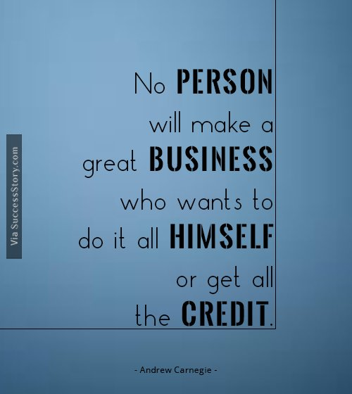 No person will make a great business