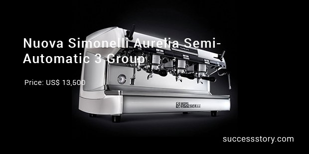 nuova simonelli aurelia semi automatic 3 group machine