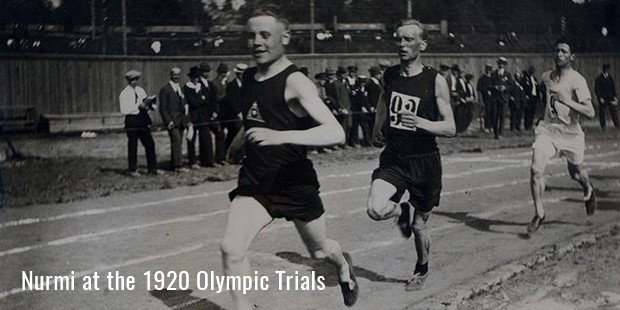 nurmi at the 1920 olympic trials