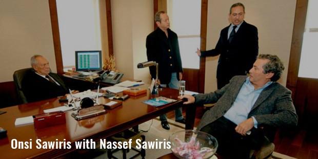onsi sawiris with nassef sawiris