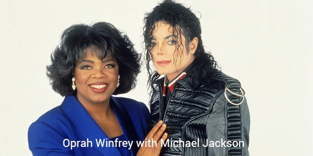 oprah winfrey with michael jackson