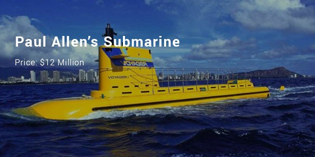 paul allen's submarine