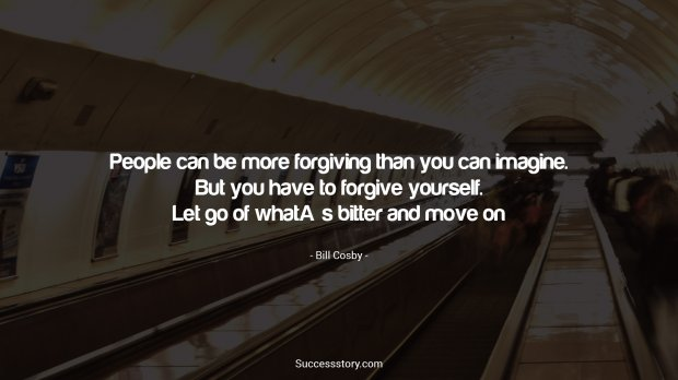 People can be more forgiving than