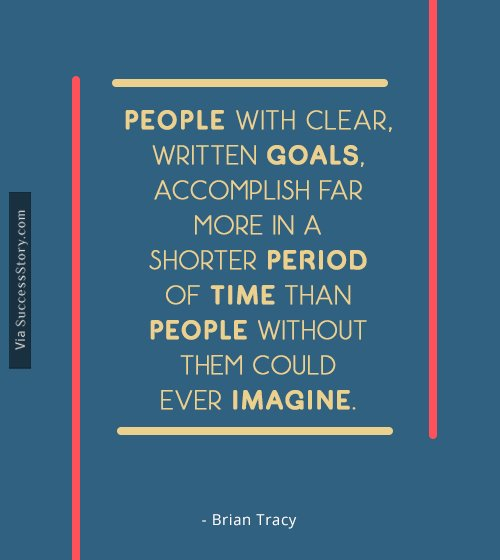 People with clear, written goals
