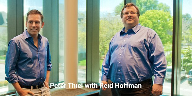 peter thiel with reid hoffman
