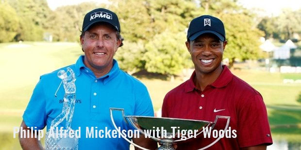 philip alfred mickelson with tiger woods