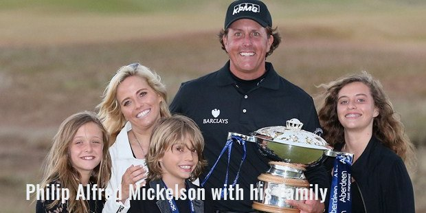 philip alfred mickelson with his family