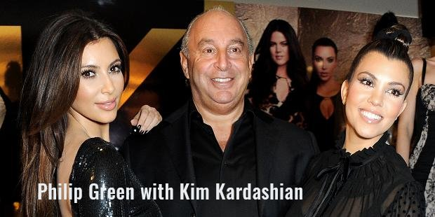 philip green with kim kardashian