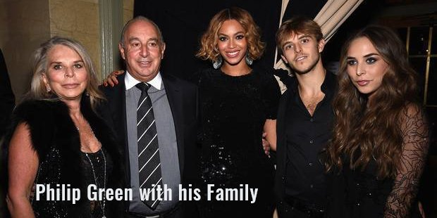 philip green with his family