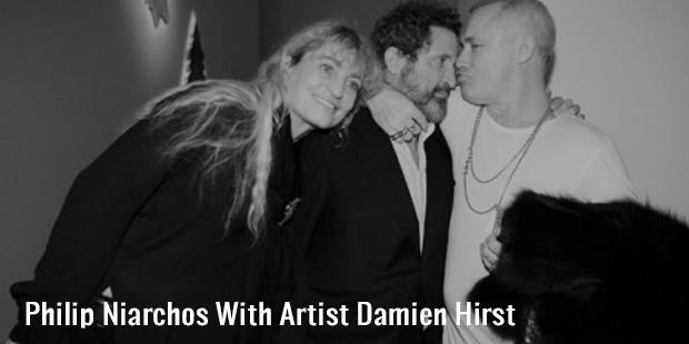 philip niarchos with artist damien hirst