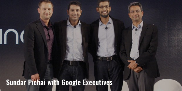 pichai with google executives