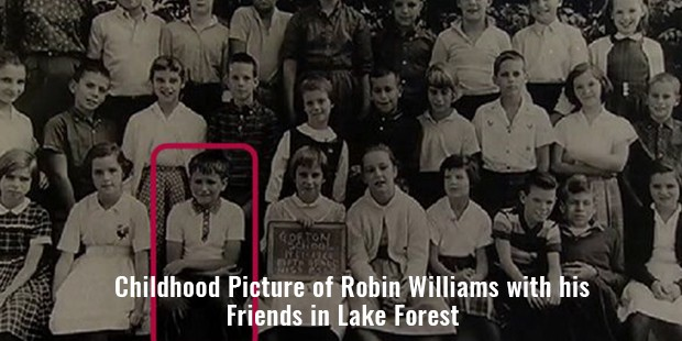 picture of robin williams with his friends in lake forest